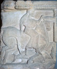 Europa and the bull, metope from sixth century Temple