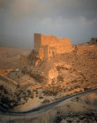 Kerak Crusader Castle, built around 1140, aerial photograph, Kerak, Jordan