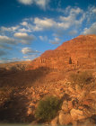 Royal tomb in evening light, Petra, Jordan