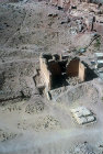 Qasr al-Bint, Nabataean temple, built circa 30 BC, aerial photograph from north, Petra, Jordan