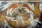 Hunter with hawk, Church of the Holy Apostles, Madaba, Jordan