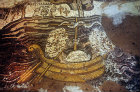 Boat and Dead Sea, sixth century mosaic,  St George