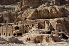 Street of facades near theatre showing variety of tomb styles, Ist century BC-AD, Petra, Jordan