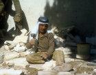 Stonemason shaping stones, Jordan