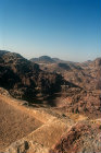 Jabal al-Khubtha, High Place of Sacrifice, theatre in background, Petra, Jordan