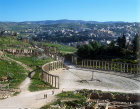 Oval piazza and cardo, first century, Jerash, Jordan