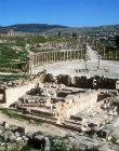 Temple of Zeus, 163, Hellenistic period, Roman altar, Oval Piazza behind, Jerash, Jordan