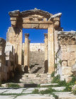 Doorway and stairs from Cardo to Cathedral, Jerash, Jordan