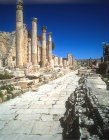 Cardo by propylaeum (grand entry) of temple of Artemis, second century, Jerash, Jordan