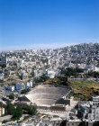 Roman theatre and modern city, Amman, Jordan