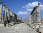 Street dating from the Roman period, Jerash, Jordan