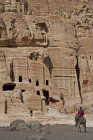 Street of facades near theatre showing variety of smaller tombs, Ist century BC-AD, Petra, Jordan