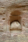 Niche in Siq with ovoid representation of God Dushara of Ardra
