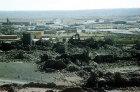 Umm el-Jimal, Roman-Byzantine basalt city, aerial photograph, Jordan