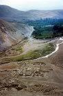 Pella, aerial view of Helenistic-Romano-Byzantine city, Jordan