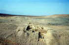 Pella, excavations on ancient tel, aerial photograph, Jordan