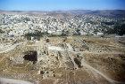 Temple of Artemis, aerial photograph, Jerash, Jordan