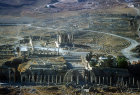 Temple of Artemis, Jerash, aerial photograph, Jordan