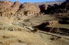 Colonnaded street looking towards the Royal tombs, Petra, Jordan