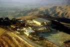 Mount Nebo, from where Moses was shown the promised land, aerial photograph, Jordan