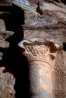 Decorated capital, detail, Mughar an-Nasara, Petra, Jordan