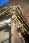 Detail of sculpted decoration, Mughar an-Nasara, Petra, Jordan