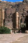 Arched gate and Royal tombs, Petra, Jordan