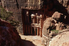 Jordan Petra the Treasury seen from the end of the Siq, 1st century BC-AD