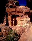 Lion Triclinium on way to Deir, Petra, Jordan