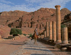 Jordan Petra colonnaded street overloooked on the east by the royal tombs 1st century BC-AD