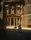 Treasury and two camels, Petra, Jordan