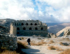 Kerak Castle built by the Crusaders in 1140, Mameluke keep inside the fortress, Kerak, Jordan