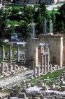North Decumanus (street running west-east) and North Tetrapylon (four-sided gateway), Jerash, Jordan