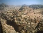 Wadi Rum landscape, aerial photograph, Jordan