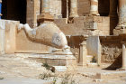 Libya, Sabratha, 2nd century AD, dolphin on left of theatre stage