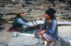 Sherpa women weaving, Nepal