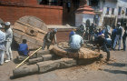 Wheelwrights at work, Nepal