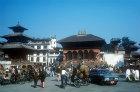 Vishnu Temple left and Shiva Parvati Temple right, Kathmandu, Nepal