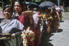 Buddhists waiting for animal sacrifice (still performed by marginal Buddhists or quasi-Buddhists), Nepal