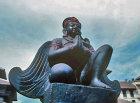 Nepal Kathmandu Durbar Square Winged Garuda statue 1794
