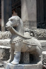 One of pair of camels on steps to Siddhi Lakshmi Temple, seventeenth century, constructed of stone, Durbar Square, Bhaktapur, Nepal
