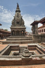 Cistern, bronze bell of temple on right hand side, Durbar Square, Bhaktapur, Nepal