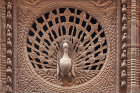 Peacock window, sixteenth century, carved in wood, Pujari Math, residence-cum-office for priest of Dattatreya Temple, Bhaktapur, Nepal