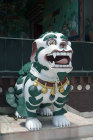 Painted guard dog, Kopan Tibetan Buddhist Monastery, Kathmandu, Nepal