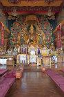 Interior of Kopan Tibetan Buddhist Monastery, Kathmandu, Nepal