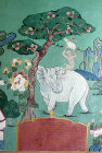 Illustration of an elephant, Kopan Tibetan Buddhist Monastery, Kathmandu, Nepal