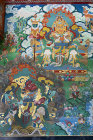 Image in interior of Kopan Tibetan Buddhist Monastery, Nepal