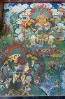 Image in interior of Kopan Tibetan Buddhist Monastery, Nepal