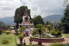 Garden with shrine, Kopan Tibetan Buddhist Monastery, Kathmandu, Nepal