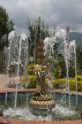 Fountain in garden of Kopan Tibetan Buddhist Monastery, Kathmandu, Nepal